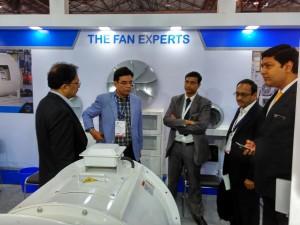 The Sintex team of M/s Sharma and Mahajan at the booth